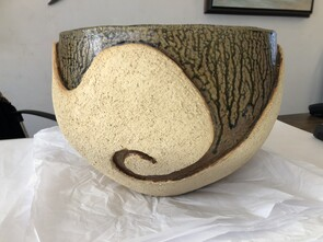 Large Ash Glaze Bowl
